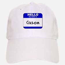 hello my name is cason Baseball Baseball Cap