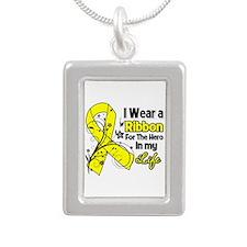 Hero in My Life Endometriosis Silver Portrait Neck