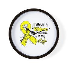 Hero in My Life Endometriosis Wall Clock