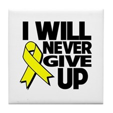 Endometriosis I Will Never Give Up Tile Coaster