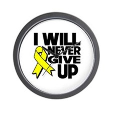 Endometriosis I Will Never Give Up Wall Clock