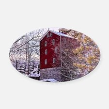 Watermill 1 Oval Car Magnet