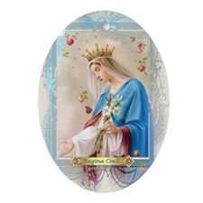 Regina Coeli Oval Ornament