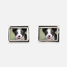 Border Collie Puppy Cufflinks