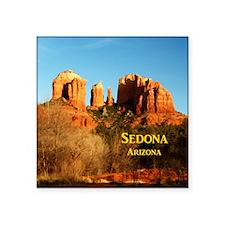 """Sedona_11x9_CathedralRocks Square Sticker 3"""" x 3"""""""