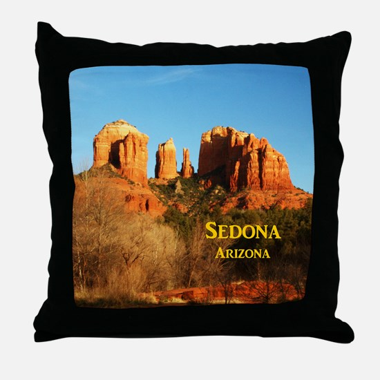 Sedona_11x9_CathedralRocks Throw Pillow