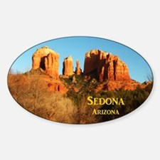 Sedona_11x9_CathedralRocks Sticker (Oval)