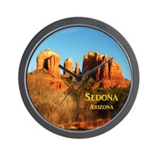 Sedona_11x9_CathedralRocks Wall Clock