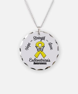 Hope Strength Love Endometriosis Necklace