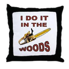 WOODSMAN Throw Pillow