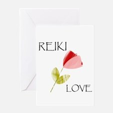 Reiki Flower design Greeting Cards