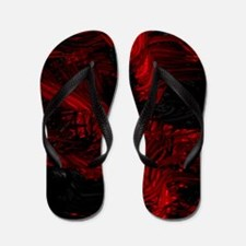 impressive moments full of color-red bl Flip Flops