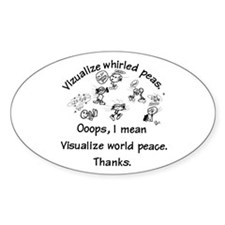 Visualize World Peas Oval Decal