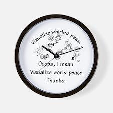 Visualize World Peas Wall Clock