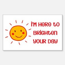 Brighten Your Day Rectangle Decal