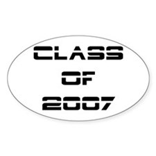 2007 class of the future Oval Decal