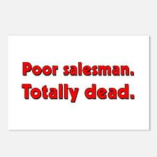 Poor salesman. Totally dead. Postcards (Package of