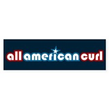 All American Curl Bumper Bumper Sticker