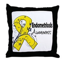 Endometriosis Awareness Throw Pillow