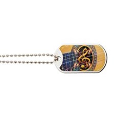 Acoustic Guitar Explosion of Music Dog Tags