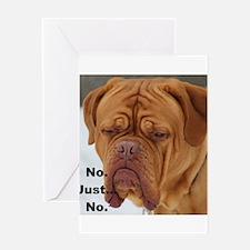 Dour Dogue No. Greeting Cards