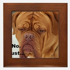 Dour Dogue No. Framed Tile