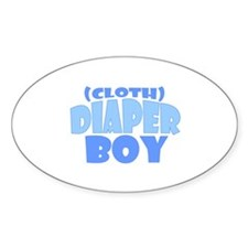Cloth Diaper Boy Oval Decal