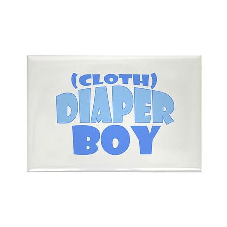Cloth Diaper Boy Rectangle Magnet