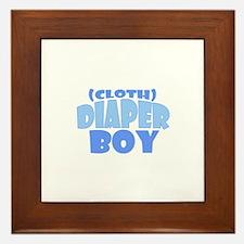 Cloth Diaper Boy Framed Tile