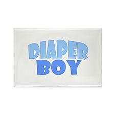 Diaper Boy Rectangle Magnet