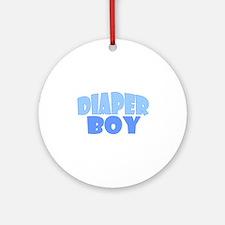 Diaper Boy Ornament (Round)