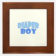 Diaper Boy Framed Tile