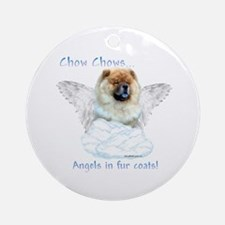 Chow Angel Ornament (Round)