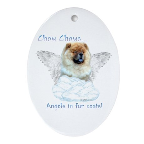 Chow Angel Oval Ornament