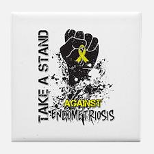 Endometriosis Take a Stand Tile Coaster