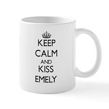 Keep Calm and kiss Emely Mugs