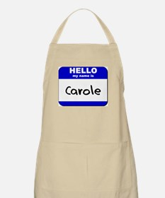 hello my name is carole  BBQ Apron