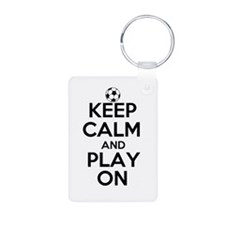 Keep Calm and Play On Keychains