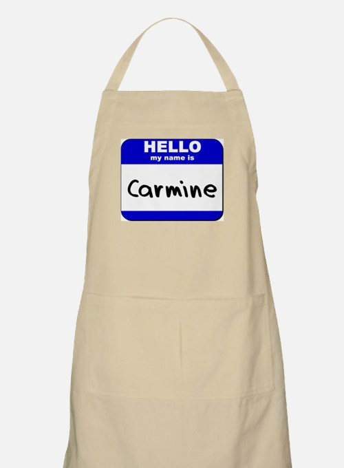 hello my name is carmine  BBQ Apron