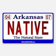 Arkansas License Plate (Nativ Sticker (Rectangular
