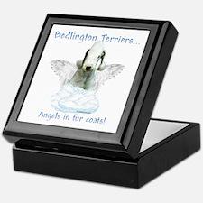 Bedlington Angel Keepsake Box