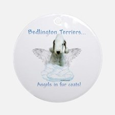 Bedlington Angel Ornament (Round)