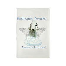 Bedlington Angel Rectangle Magnet