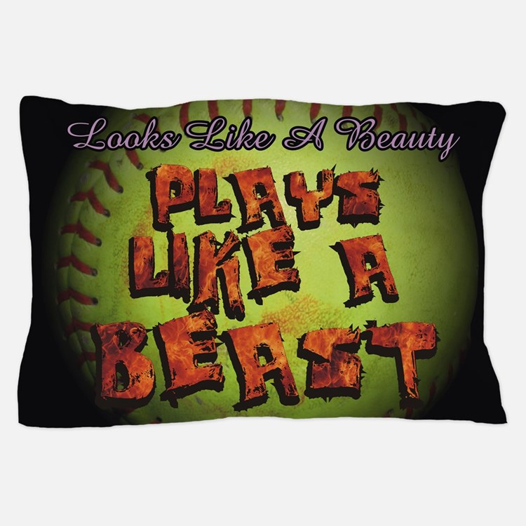 Plays Like A Beast Fastpitch Softball Pillow Case