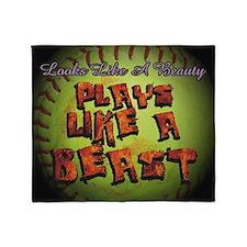 Plays Like A Beast Fastpitch Softball Throw Blanke