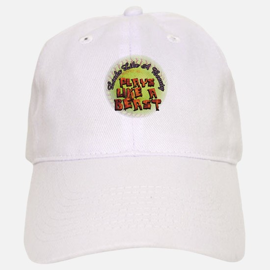 Plays Like A Beast Fastpitch Softball Baseball Baseball Cap