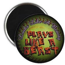 Plays Like A Beast Fastpitch Softball Magnet