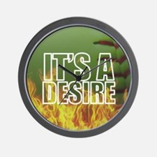 It's A Burning Desire Fastpitch Softball Wall Cloc