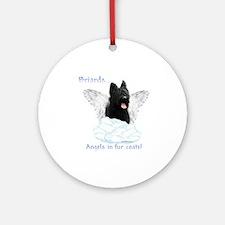 Briard Angel Ornament (Round)