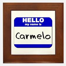 hello my name is carmelo  Framed Tile